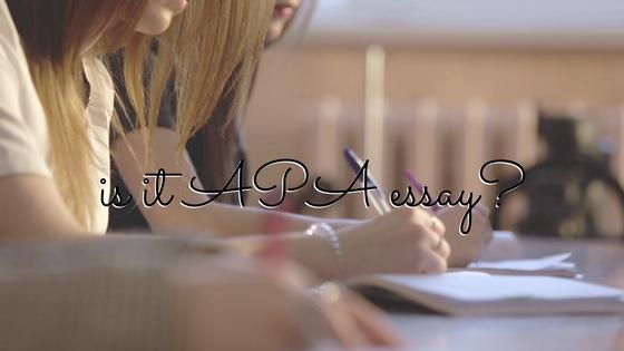 Content is it apa essay